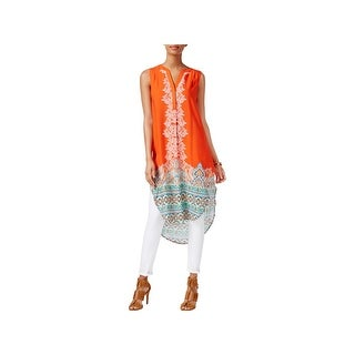 Cable & Gauge Womens Tunic Top Printed High-Low - xs