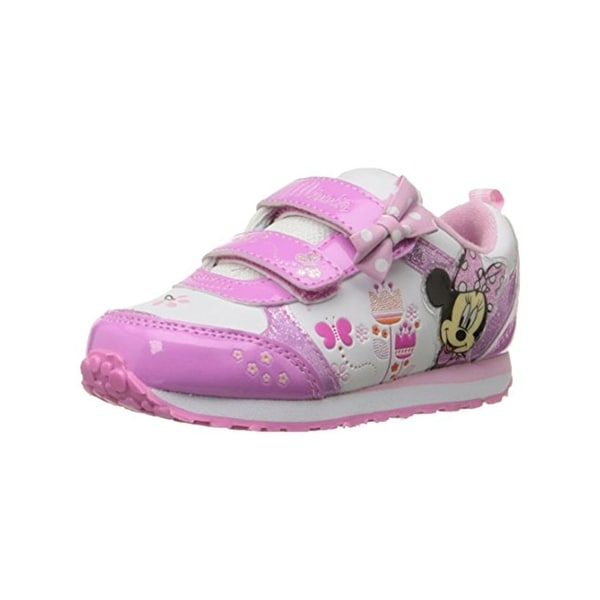 Disney Girls Minnie Mouse Fashion Sneakers Light Up