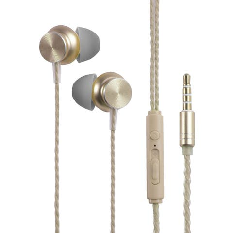 3.5mm In-Ear Wired Headset with Microphone, Gold