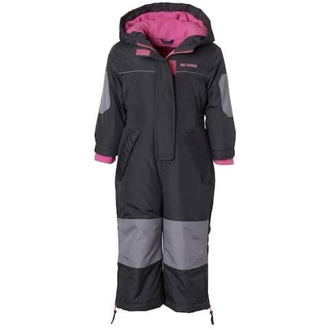 Pink Platinum Girls 2T-4T Snowmobile Snowsuit
