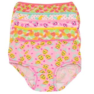 1000% Cute Girls Multi Color Fruit Print 5 Pc Brief Underwear Pack