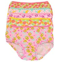 1000% Cute Little Girls Yellow Pink Fruit Print Cotton 5 Pc Underwear Set