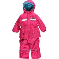 Pink Platinum Girls 12-24 Months Athletic Snowsuit