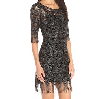 d7e087a6 Quick View. Was $61.98. $21.99 OFF. Sale $39.99. Jessica Simpson Black Womens  Size 10 Fringed Shimmer Sheath Dress