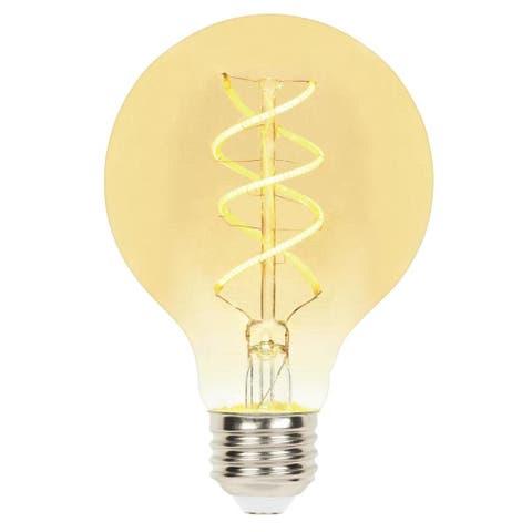 Westinghouse 5124020 Pack of (6) - 5 Watt G25 Medium (E26) LED Bulbs - Amber