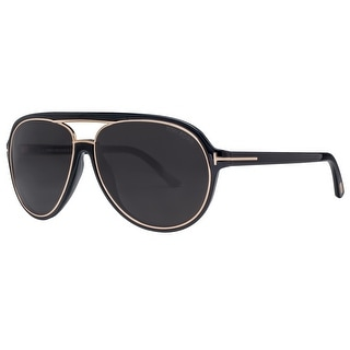 Tom Ford Sergio TF379 01A 60mm Black Gold/Grey Unisex Aviator Sunglasses - Black/gold - 60mm-14mm-140mm