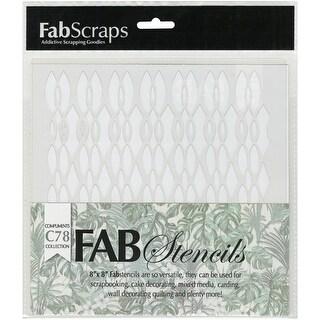 """FabScraps Plastic Stencil 8""""X8""""-Jungle Mist Jungle Twine"""