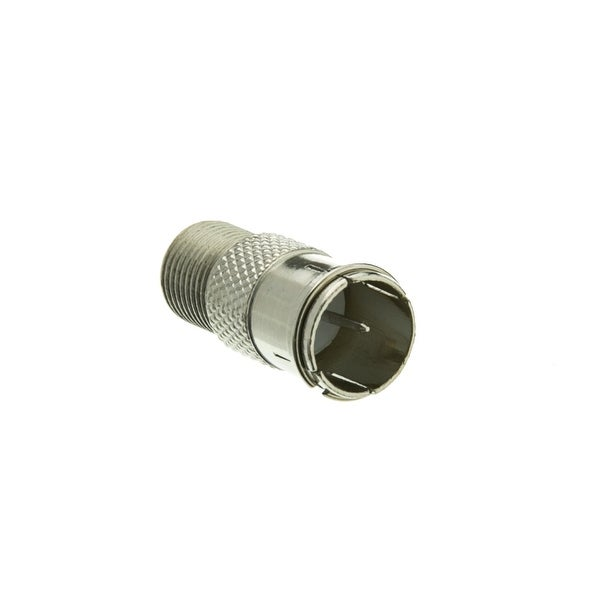 Offex F-pin Coaxial Quick Connect Adapter, Threaded F-pin Female to Quick F-pin Male