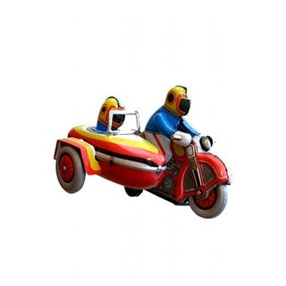 SHAN MS281 Collectible Tin Toy - Motorcyle with Sidecar