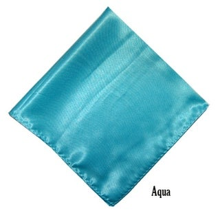 "Mens Solid Color Pocket Squares Wedding Handkerchiefs - 17"" x 17"" (Option: Beige)"
