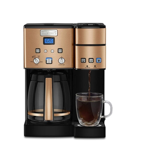 Shop Cuisinart Ss 15cp 12 Cup Coffee Maker And Single
