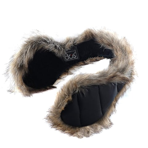 180s Women's Down With Fur Behind The Head Ear, Black, Size One Size Fits Most - One Size Fits Most