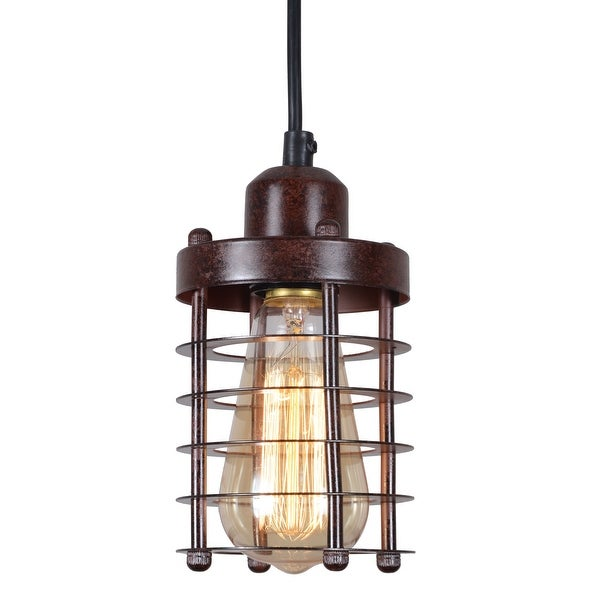 Rustic Wire Cage Vintage Pendant Light Fixture N A
