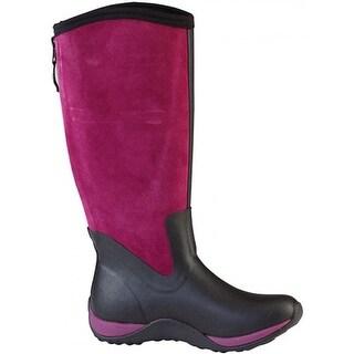 Muck Boot's Arctic Adventure Suede Zip Boot Black/Purple - Size 7