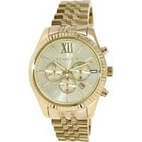 Michael Kors Men's Lexington  Gold Stainless-Steel Fashion Watch