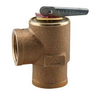 Watts 3/4 335M1-030 Boiler Safety Pressure Relief Valve, 30 PSi