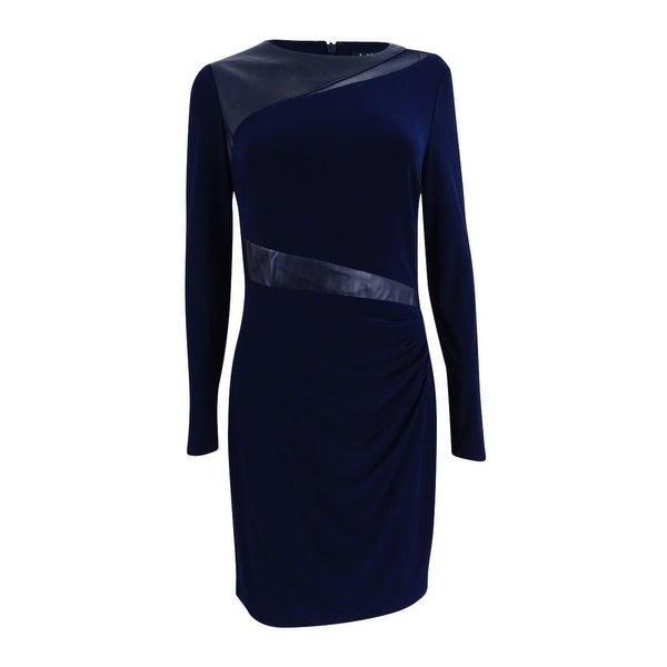 Shop Lauren by Ralph Lauren Women\'s Plus Size Faux-Leather-Trim ...