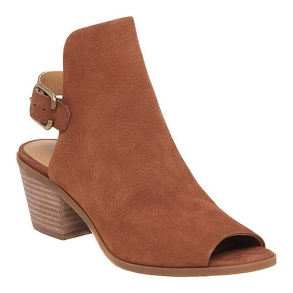 01c585b3437 Shop Lucky Brand Women's Bray Open Toe Bootie Toffee Leather - Free ...