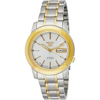 Link to Seiko Men's SNKE54J1 'Seiko 5' Automatic Two-Tone Stainless Steel Watch - Silver Similar Items in Men's Watches
