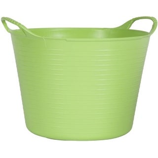 Tubtrugs SP24PST 10 Gallon Flexible Storage Bucket, Pistachio
