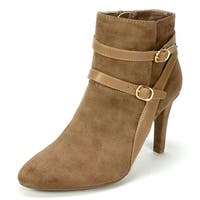 Rialto Womens Caleigh Almond Toe Ankle Fashion Boots