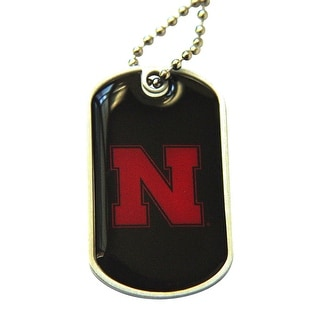 Nebraska Cornhuskers Dog Tag Necklace Charm Chain NCAA