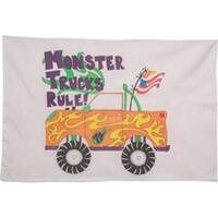 """Monster Truck - Stamped Perle Edge Pillowcase 30""""X20"""""""