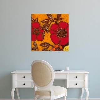 Easy Art Prints Andrea Davis's 'Fire Bloom II' Premium Canvas Art
