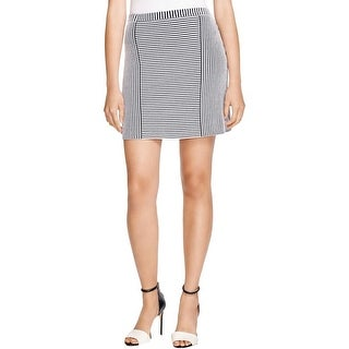 Theory Womens Tesla A-Line Skirt Striped Pull On