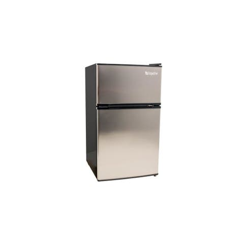 "EdgeStar CRF321 19"" Wide 3.1 Cu. Ft. Energy Star Rated Fridge/Freezer - Stainless Steel"