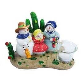 Gift Link Western Christmas Snowman Candleholder