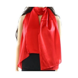 Tom & Eva NEW Cranberry Red One Size Satin Solid Shawl/Wrap Scarf