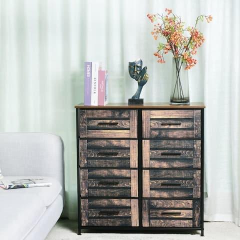 8 Drawers Fabric Storage Organizer Clothes Drawer Double Dresser