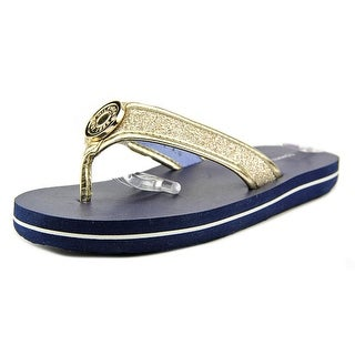 Tommy Hilfiger Glitter Flip Flop Youth Open Toe Synthetic Gold Flip Flop Sandal