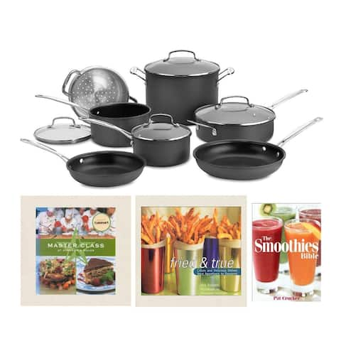 Cuisinart Chef's Classic Hard-Anodized Cookware Set with Recipe Books
