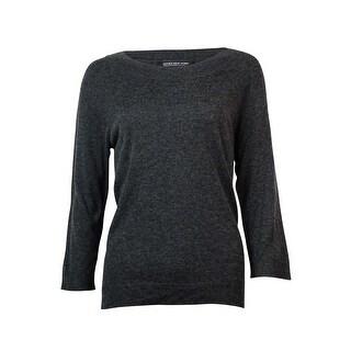 Jones New York Women's 3/4 Sleeve Boat Neck Sweater