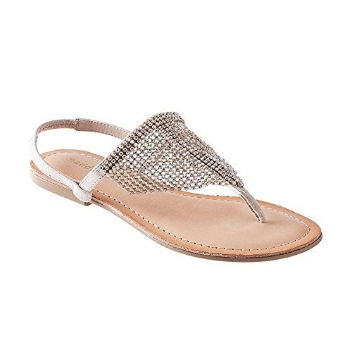 50ef0a964 Shop Madden Girl Women s  SAANDIE  Rhinestone Hooded Flat Thong Sandals -  Free Shipping On Orders Over  45 - Overstock - 14526549
