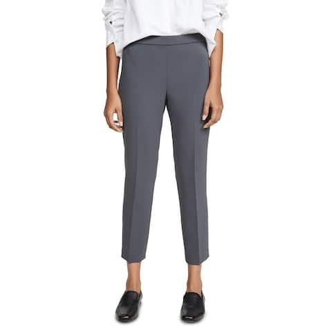 Theory Womens Basic Pull on Pant Deep Slate Capri Suiting