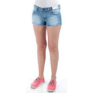 INDIGO REIN $90 Womens New 1328 Light Blue Fringed Cropped Short Juniors 5 B+B