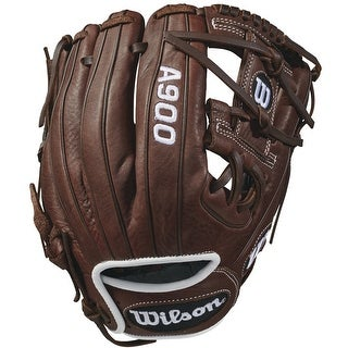 "Wilson 2018 A900 Pedroia Fit 11.5"" Baseball Glove (Brown/White/Right Hand Throw)"