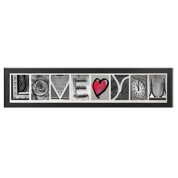 Creative Personalized Imagine Letter Art Frame with 4x6 inch clip ...