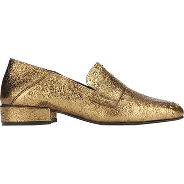 91e9652f1fb Shop Kenneth Cole New York Women s Bowan Loafer Gold Leather - On Sale -  Free Shipping Today - Overstock - 18621604