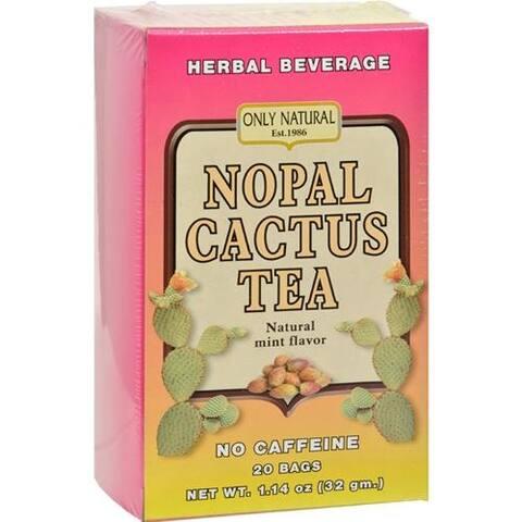Only Natural - Nopal Cactus Tea Caffeine Free Natural Mint ( 2 - 20 BAG)