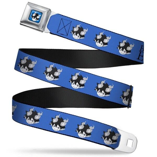 Chibi Demon Rin Face Full Color Blue Grays Blue Exorcist Chibi Demon Rin Seatbelt Belt