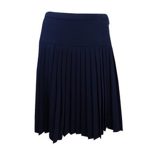 Tommy Hilfiger Women's Pleated Skirt - Midnight