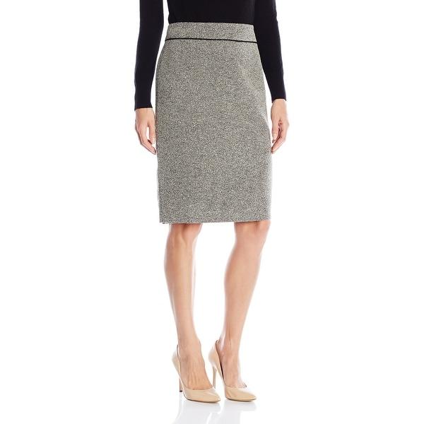 18002fe599 Shop Kasper NEW Cream White Ivory Black Womens Size 16 Straight Pencil Skirt  - Free Shipping On Orders Over $45 - Overstock.com - 17870443