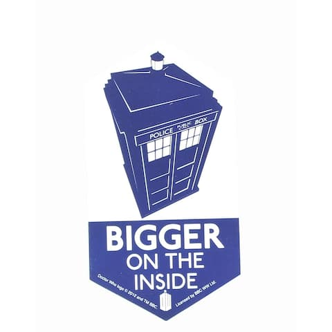 Doctor Who Sticker: Bigger On The Inside - multi
