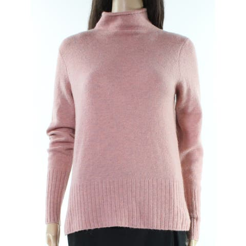Madewell Rose Pink Womens Size Small S Knitted Turtleneck Sweater