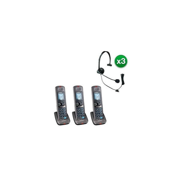Uniden DCX400-3 with Headset 2 Line DECT 6.0 Extra Handset