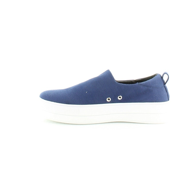 kensie Womens deon Canvas Low Top Slip On Fashion Sneakers